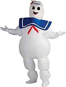 Rubie's Ghostbusters Inflatable Stay Puft Marshmallow Man Costume, White, Standard