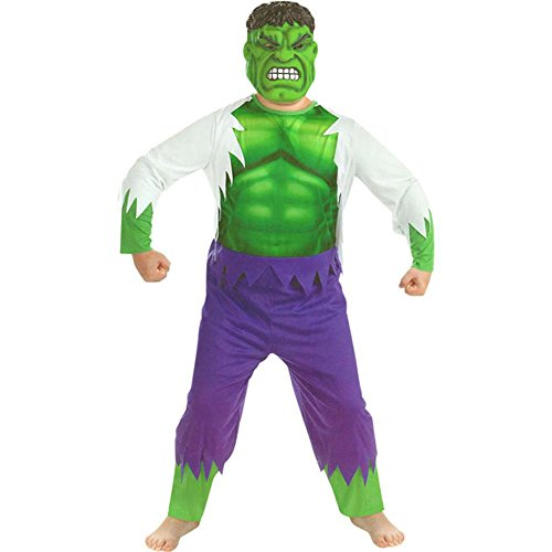 Kid's Deluxe Incredible Hulk Costume (Large 10-12)