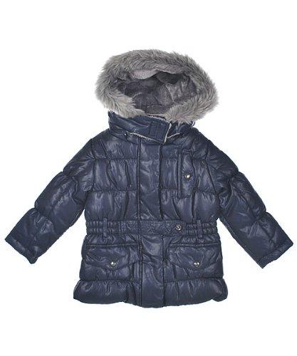 "London Fog Girls ""Hampstead"" Insulated Jacket (Sizes 12M - 24M) - navy, 12 months"