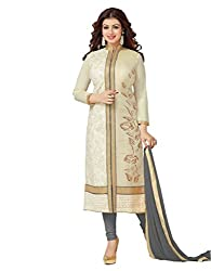 Khodal Fashion Women's Cotton Dress Material With Cream Color(Mfgn_Ashiya_AN_Grey)