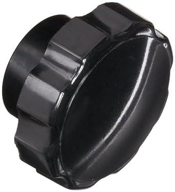 "DimcoGray Black Phenolic Fluted Torque Knob Female, Brass Insert: 1/4-20"" Thread x 7/16"" Depth, 1-3/8"" Diameter x 27/32"" Height x 27/32"" Hub Dia x 25/64"" Hub Length"