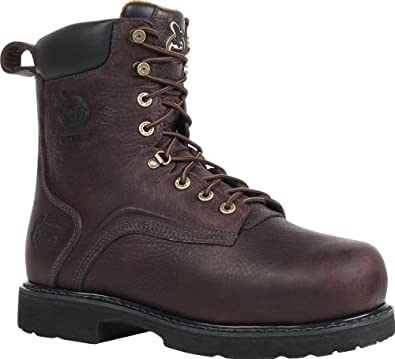 "Georgia Men's 8"" Thermal-Tec Steel Toe WP Internal Metatarsal Work Boot-G9352 (M8.5)"