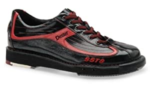Dexter Men's SST 8 Bowling Shoes, Black/Red, 6.5