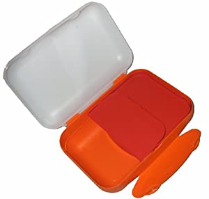 1a TUPPER A136 Brotdose LUNCH-BOX Schulbrotdose --- orange weiß