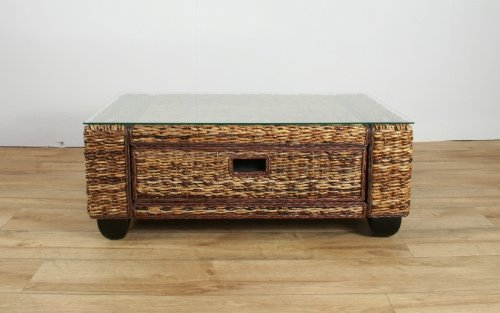 Conservatory furniture KINGSTON ABACA (Banana leaf) Designer Coffee Table
