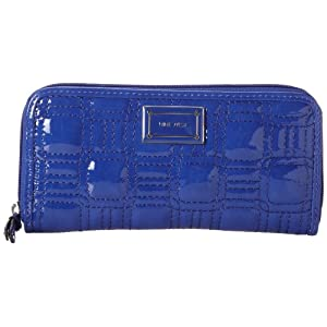 Nine West Go To Glamour Zip Around Wallet,Diva Blue,One Size