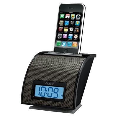 Ihome Ih11Bv Space Saver Ipod Alarm Clock - Black