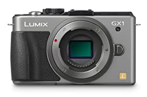 Panasonic Lumix DMC-GX1 16 MP Micro 4/3 Compact System Camera with 3-Inch LCD Touch Screen Body Only (Silver)