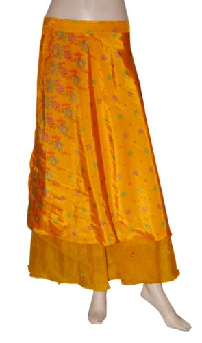 Indian Womens Cotton Gypsy Hippie Wraparound Skirt