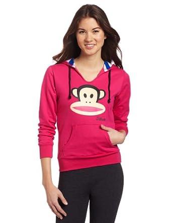 (大热)大嘴猴Paul Frank 女士枚红色抓绒拉链帽衫 卫衣Junior's Hoodie$26.60