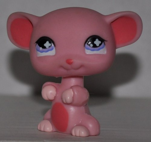 Mouse #633 (Pink, Purple Eyes) - Littlest Pet Shop (Retired) Collector Toy - LPS Collectible Replacement Figure - Loose (OOP Out of Package & Print) - 1