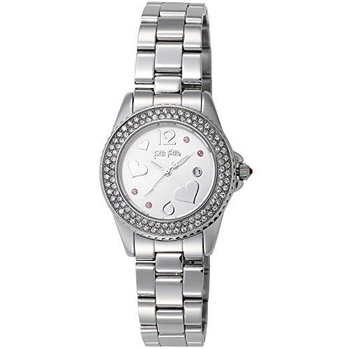 [フォリフォリ]FOLLI FOLLIE 腕時計 FLYINGHEART シルバー文字盤 デイト WF9A049BTS レディース 【並行輸入品】