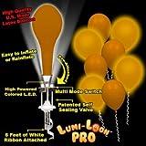 Lumi-Loons Balloon Lights Gold Balloons White Lights - 10 Pack