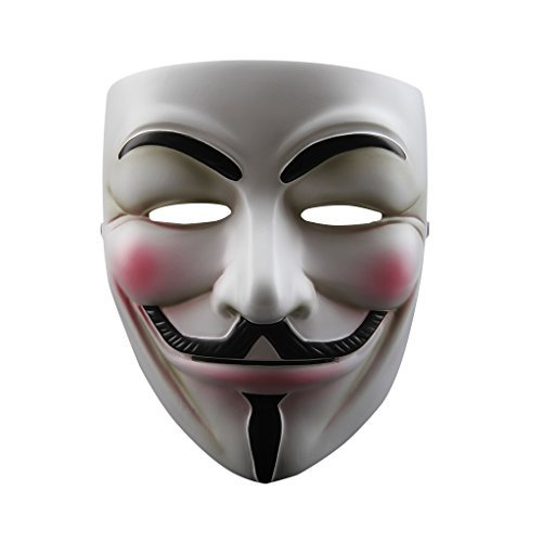 Floureon V for Vendetta Anonymous Guy Fawkes Resin Fancy Cool Costume Cosplay Mask for Parties, Carnivals (Cool Cosplay compare prices)