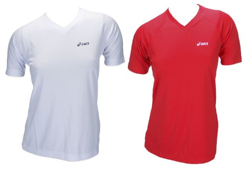 Asics Set Running Fitness Indoor Sport Shirts 2x T-Shirts Women 572921 White Red