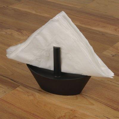 GAMAGO Sailboat Napkin Holder, Black