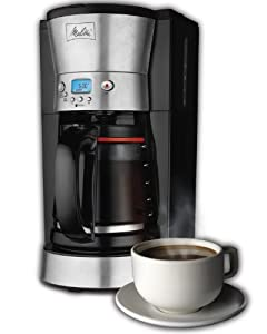 Melitta 46893A 12-Cup Programmable Coffeemaker with Frustration Free Packaging