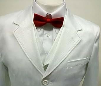 New Men's 3 Piece White tone Dress Suit - Jacket, Pants & 6 Button Vest
