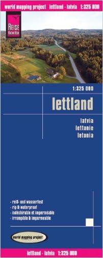 Latvia Road Map (Lettland) 1:325,000