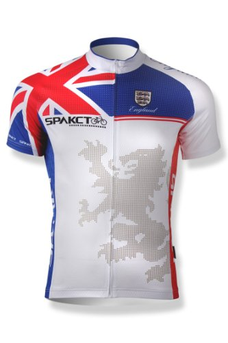 Image of SPAKCT Cycling Short sleeve Jersey with lion pattern - 2012 London Olympics -white (B008X6XANW)