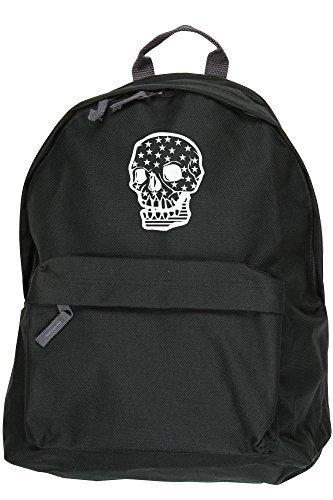 American HippoWarehouse Skull-Zaino daypack Dimensioni: 31 x 42 x 21 cm, capacità: 18 litri nero Taglia unica