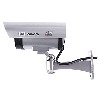 Outdoor Indoor Fake CCTV Security Camera Blinking LED Night CAM
