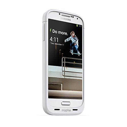 Mophie Juice Pack for Samsung Galaxy S4 - White (Certified Refurbished) (Mophie Juice Pack S4 compare prices)