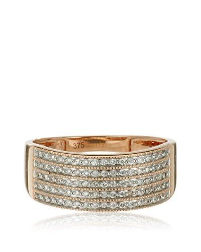 Bentelli Anillo 9K Gold 0.19Ct Diamonds Oro Rosa 14 (DE 54)