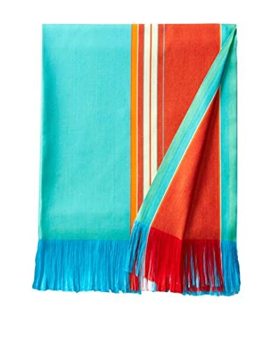 Nomadic Thread Society East African Beach & Bed Throw, Electric Teal