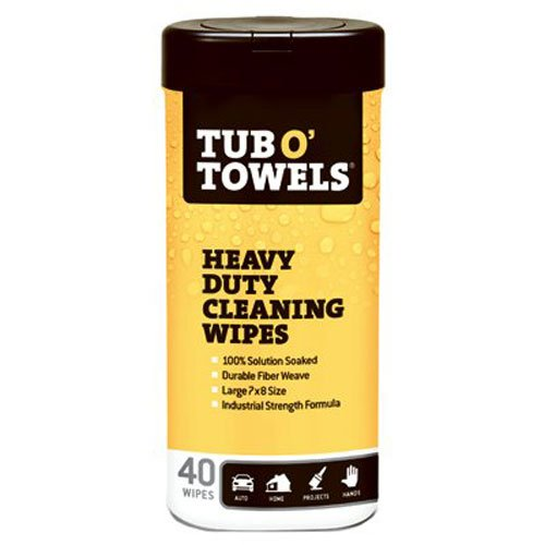 Tub O Towels Heavy-Duty 7″ x 8″ Size Multi-Surface Cleaning Wipes, 40 Count Per Canister