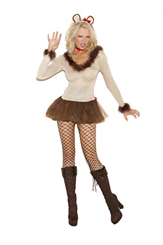 Sexy Women's Cowardly Lioness Storybook Adult Roleplay Costume