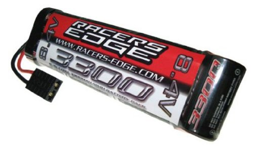 Racer's Edge 8.4V 3300mAh cell NiMH RC Battery Flat Pack with TRX Plug