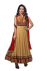Kamakshi Womens Chiffon Self Print Anarkali Salwar Suit (Begum_Xxl)