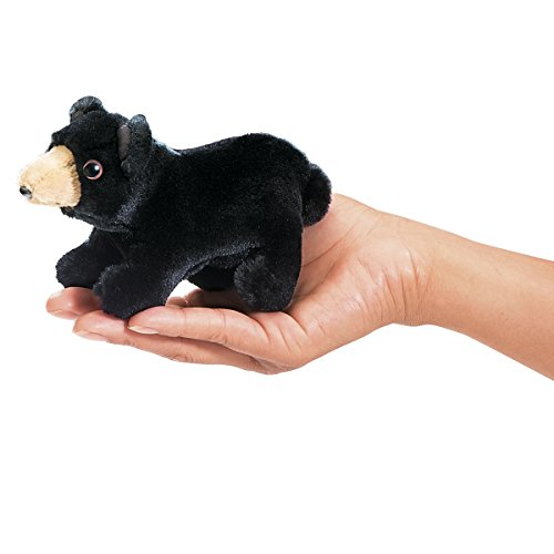 Folkmanis Mini Black Bear Finger Puppet