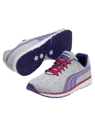 Puma Womens Narita v2 Wn's Running Shoes Gray Grau (glacier gray-spectrum blue-beetroot purple 01) Size: 36