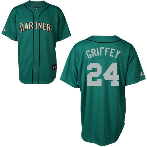 Ken Griffey Seattle Mariners Alternate Green Replica Jersey by Majestic Select Size: Medium at Amazon.com