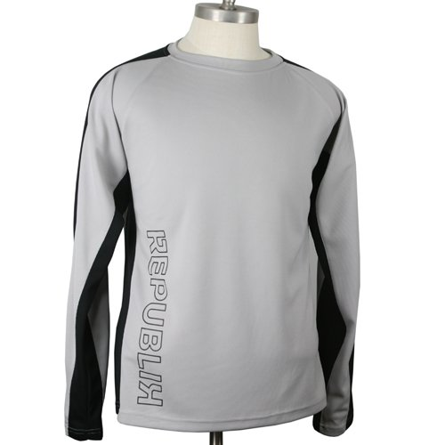 Republik Caldera Long Sleeve Mountain Bike Jersey (X-Large, Tan/Black)