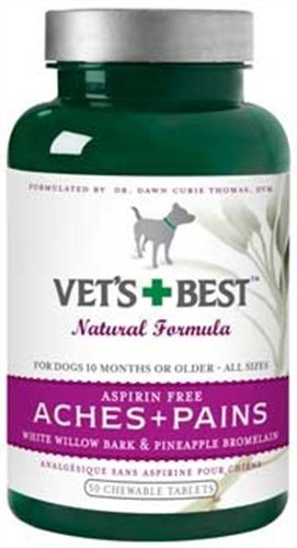 Veterinarians Best Aspirin Free Aches & Pains Formula Chewable Tablets, 50 Count