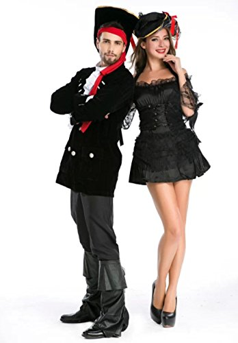 NonEcho Halloween Costumes for Adult Pirate Couple Costume Separate Men & Women