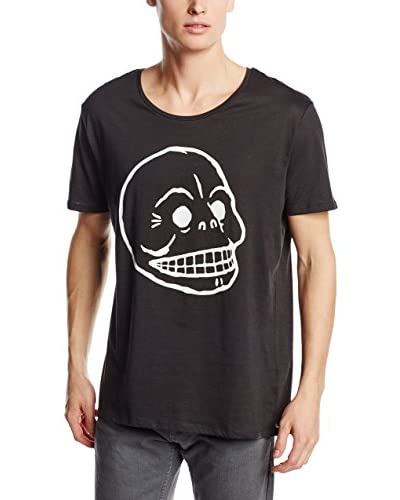 Cheap Monday T-Shirt Manica Corta Scoop Tee Skull [Nero Delavé]