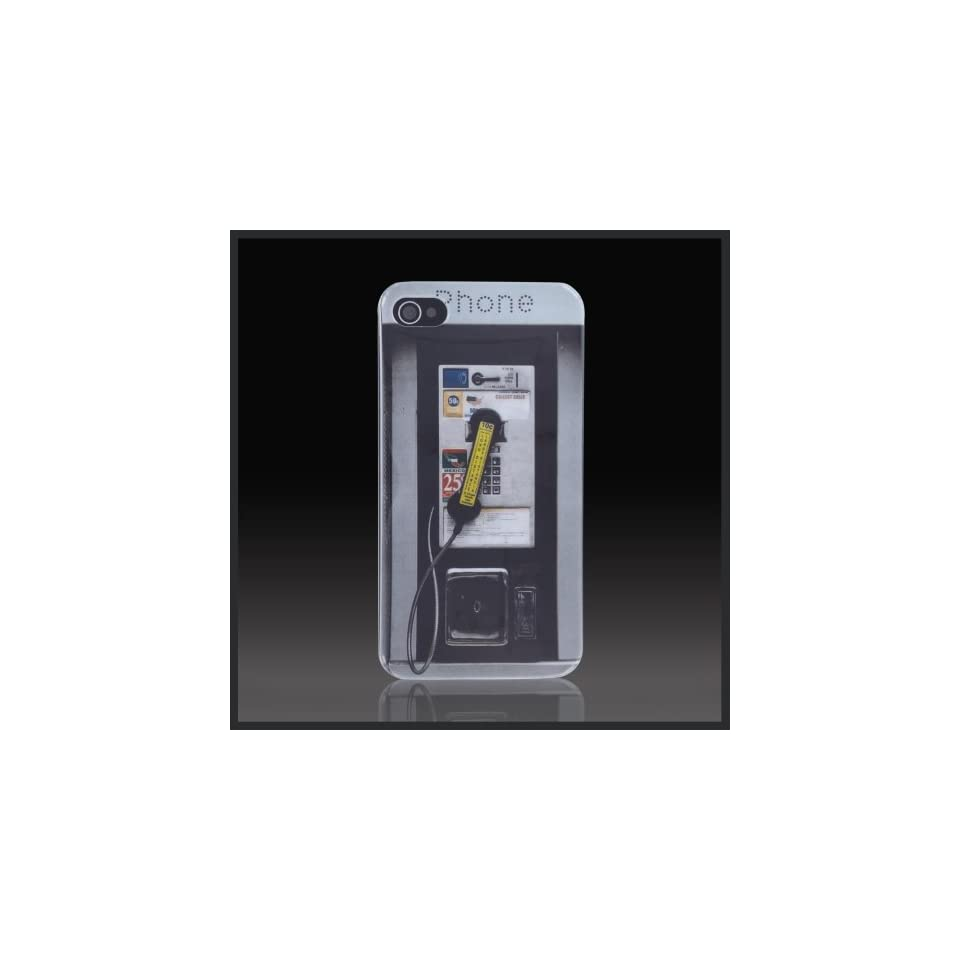 Pay Phone Booth Images hard case cover for Apple iPhone 4 4G 4S