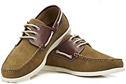 Brent Shoes Mens Midas Boat Leather Casuals