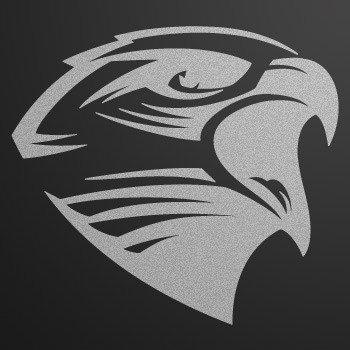 Hawk Head Engrave style... Silver-Matte (10 X 9.1 inch) W7X49