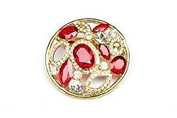 Syonaa Multicolor Crystal brooch for Women.