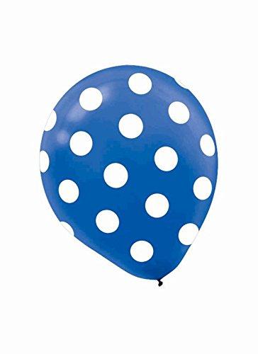 """Amscan Polka Dots Printed Latex Balloons, 12"""", Black/White"""