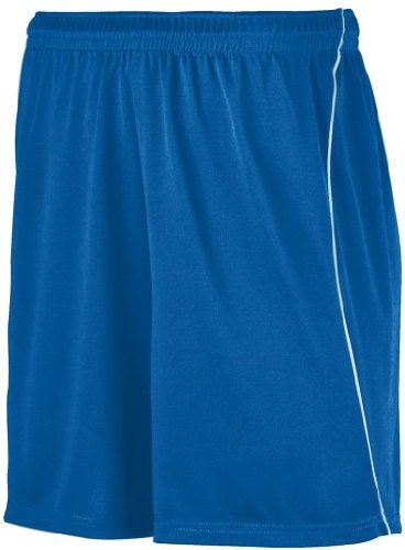 Augusta Sportswear 461 Youth'S Piped Wicking Soccer Short Royal/White Medium front-1000084