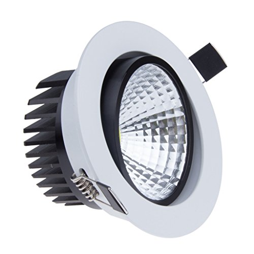 Bloomwin led spot encastrable dimmable blanc froid 220v for Spot encastrable plafond isole