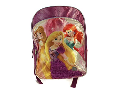 "Disney Princess 16"" Backpack with Rapunzel Dress Feature!"