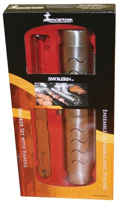 Villa Olympic SMST-0304 BBQ Smoker Box Set, Holds 8-oz. Wood Chips With Removal Tool