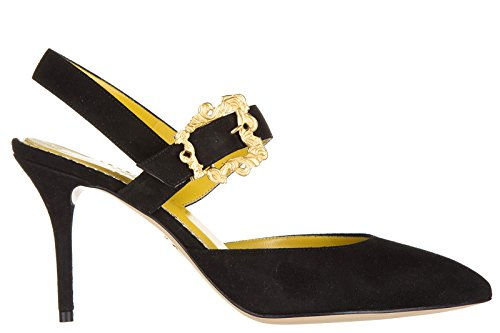 charlotte-olympia-womens-suede-pumps-court-shoes-high-heel-christine-black-uk-size-5-5054490560693